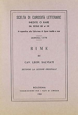 Rime (rist. anast.).: Salviati, Leonardo