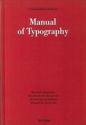 Bodoni. Manual of Typography. Manuale Tipografico 1818.: Giambattista Bodoni