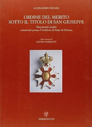 Ordine del Merito Sotto il Titolo di: Panajia, Alessandro