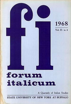 Forum Italicum. A quarterly of Italian Studies.