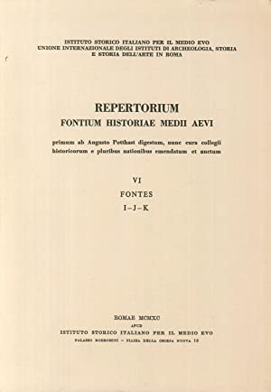 Repertorium fontium historiae Medii Aevi. Vol. 6.