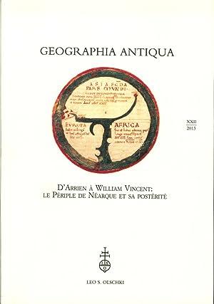 Geographia Antiqua XXII. 2013