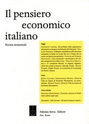 Il Pensiero Economico Italiano. Per una interpretazione