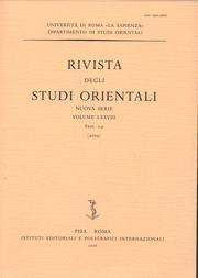 Rivista degli Studi Orientali. 75. 1-4. 2001.