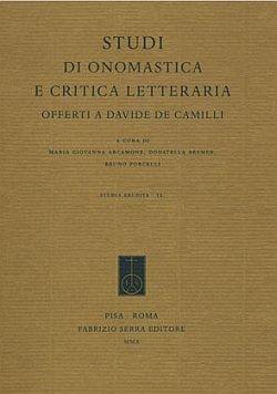 Studi di onomastica e critica letteraria offerti