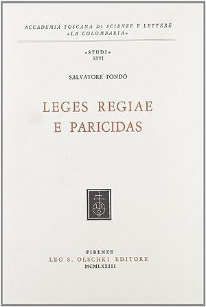 Leges regiae e paricidas.: Tondo, Salvatore