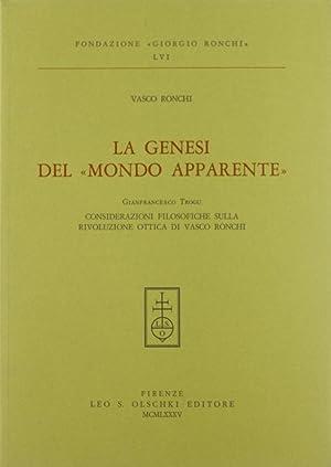 """La genesi del """"mondo apparente"""": Ronchi, Vasco"""
