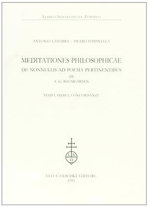 Meditationes philosophicae de nonnullis ad poema pertinentibus: Lamarra, Antonio Pimpinella,