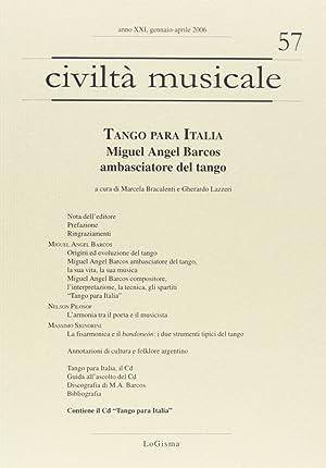 Tango para Italia. Miguel Angel Barcos ambasciatore del tango. Con CD Audio.: Barcos, Miguel A