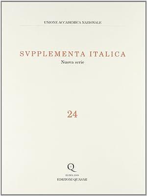 Supplementa italica. Vol. 24.: aa.vv.