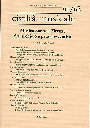 Musica sacra a Firenze fra archivio e prassi esecutiva.