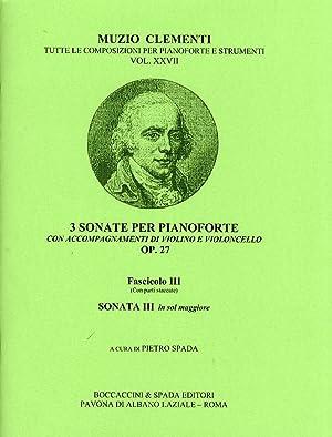 Muzio Clementi. 3 Sonate per pianoforte con: Clementi, Muzio