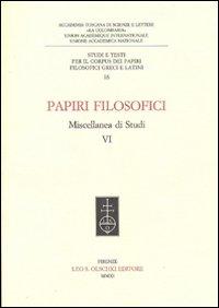 Papiri filosofici. Miscellanea di studi. Vol. 6.: AA.VV