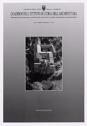 Quaderni dell'Istituto di Storia dell'Architettura. Nuova Serie. 41. 2003.