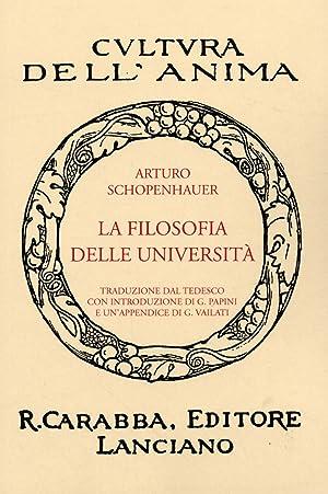 La Filosofia delle Università.: Schopenhauer, Arthur