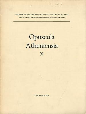 Opuscula Atheniensia. Vol.10.