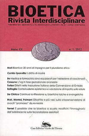 Bioetica. Rivista Interdisciplinare. Anno XX. Numero 1.: aa.vv.