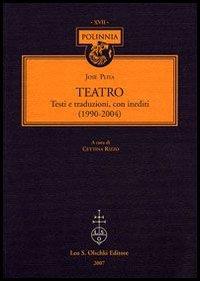 Teatro. 1990-2004.: Pliya, José