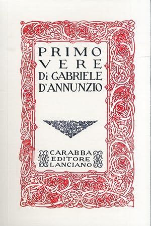 Primo vere.: D'Annunzio, Gabriele
