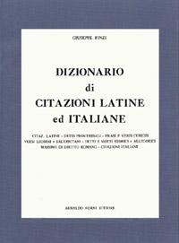 9788827119549 Dizionario Di Citazioni Latine Ed Italiane