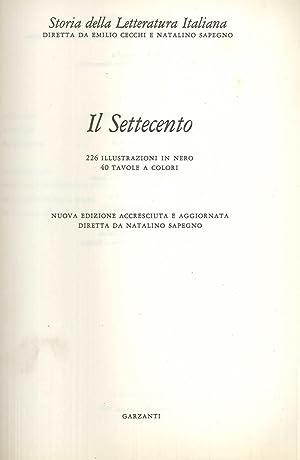 Storia della Letteratura Italiana. Vol. 6: il Settecento.