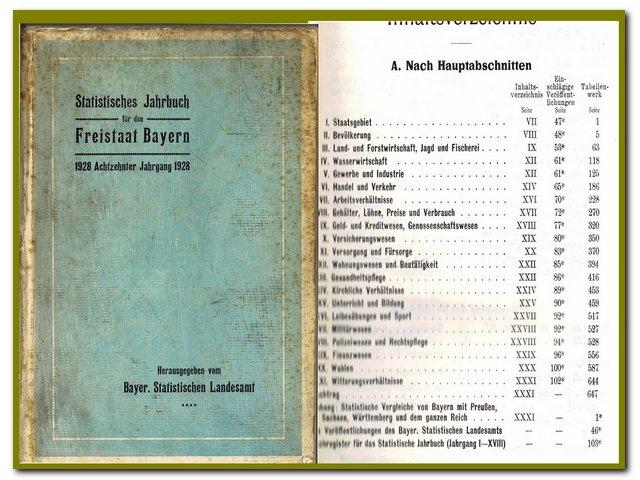 Statistisches Jahrbuch für den Freistaat Bayern 1928: Bayerisches Statistisches Landesamt