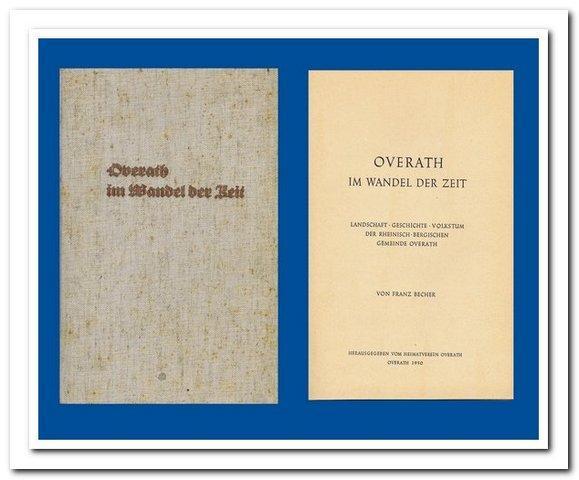 Overath im Wandel der Zeit (Landschaft -: Becher, Franz