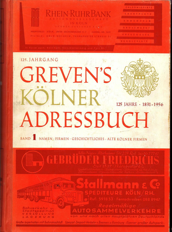Adressbuch Der Stadt Koln Zvab