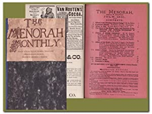 THE MENORAH - (A MONTHLY MAGAZINE FOR THE JEWISH HOME)