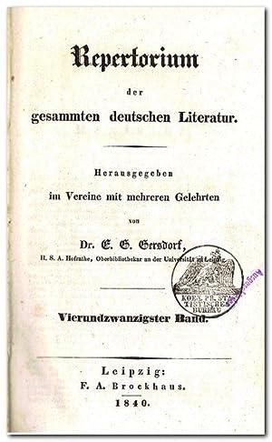 Repertorium der gesammten deutschen Literatur - (Jahrgang: Gersdorf, E. G.
