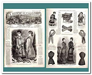 La Mode Illustree (Journal de la Famille) - Jahrgänge 1880 und 1881 -