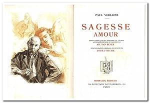 Sagesse Amour (Edition revue sur les manuscrits: VERLAINE, Paul