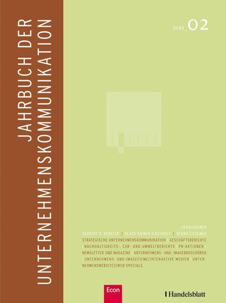 Jahrbuch der Unternehmenskommunikation 2008 Band 02: Henzler, Herbert, Klaus
