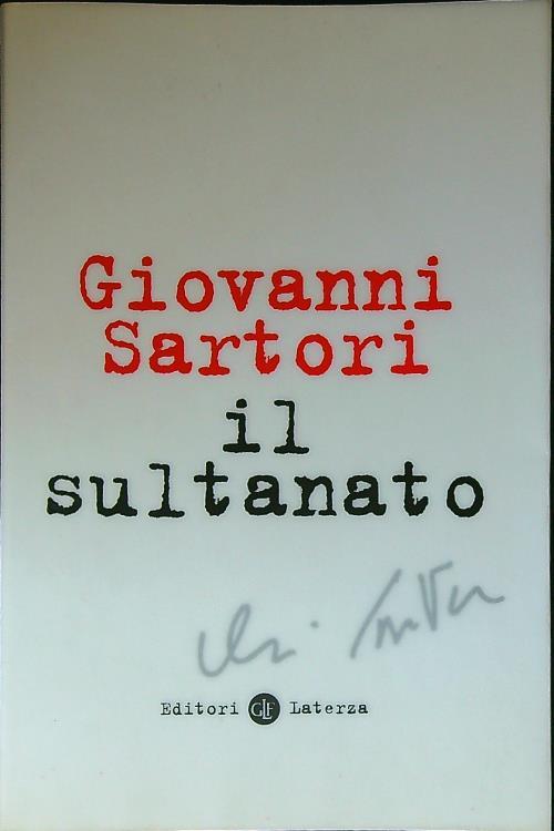 Il sultanato - Sartori, Giovanni