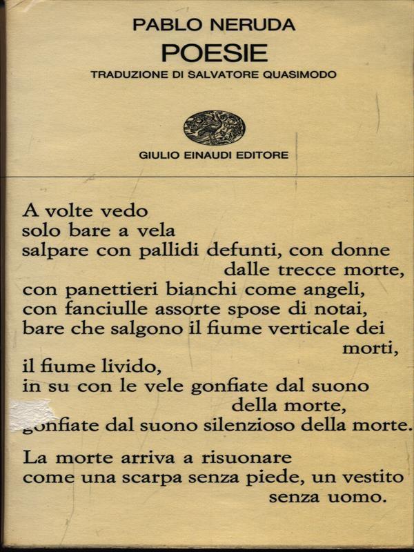 Poesie Con Testo In Spagnolo A Fronte Da Pablo Neruda Einaudi