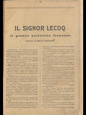 Il signor Lecoq - il grande poliziotto: Emilio Gaboriau