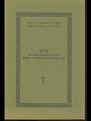 Atti del terzo convegno di Studi Borgo: aa.vv.
