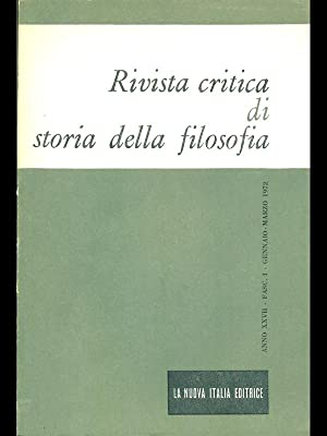Rivista critica di storia della filosofia anno: aa.vv.
