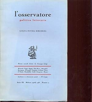 L'osservatore politico letterario n.4/aprile 1963: AA.VV.