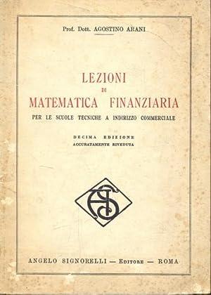 Lezioni di matematica finanziaria: Agostino Arani