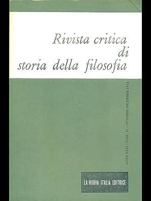 rivista critica di storia della filosofia -: aa.vv.