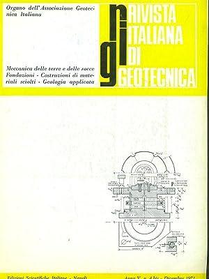 Rivista italiana di geotecnica Anno V N4: aa.vv.