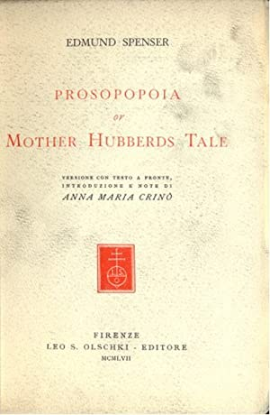 mother hubberds tale by edmund spenser The complete works in verse and prose of edmund spenser, volume i  or mother hubberds tale the ruines of rome muiopotmos, or the tale of the butterflie.