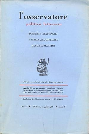 L'osservatore politico letterario n.5 / maggio 1963: AA.VV.