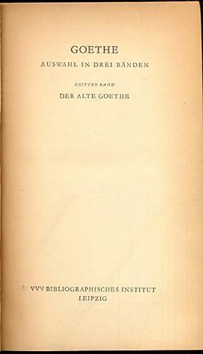 Dritter band - in lingua tedesca: Johann Wolfgang Goethe