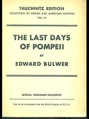 The last days of Pompeii: Edward Bulwer