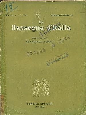 La Rassegna d'Italia N. 2-3/1946: Francesco Flora