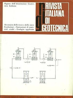 Rivista italiana di geotecnica Anno XI N: aa.vv.