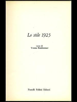 Lo stile 1925: Yvonne Brunhammer
