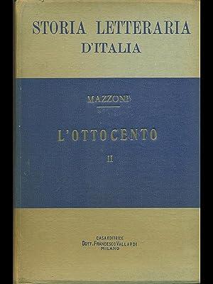 Storia letteraria d'Italia: l'Ottocento parte II: Guido Mazzoni